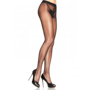 LA Spandex Sheer to Waist Black