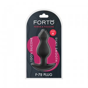 F-78 Pointee Silicone Plug Medium - Black