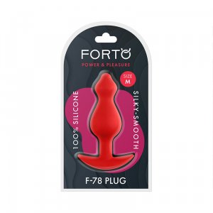 F-78 Pointee Silicone Plug Medium - Red
