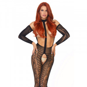 Reversible Lace Bodystocking