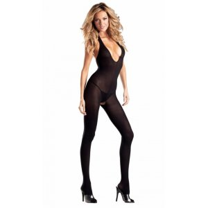 Opaque Halter Top Bodystocking