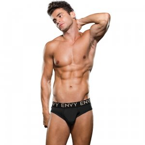 Micro Lowrise Logo Elastic Brief - Black