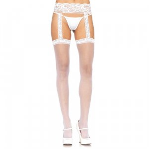 LA Stockings with Attached Lace Garterbelt