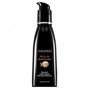Wicked Aqua Edible Lubricant Cinnamon Bun 120 ml
