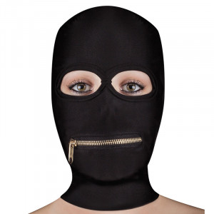 Extreme Zipper Mask with Mouth Zipper Black