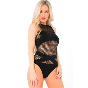 X-Rated Seamless Bodysuit - Black