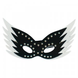 Black N White Leather Mask