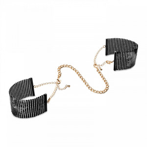 Black Metallic Mesh Handcuffs