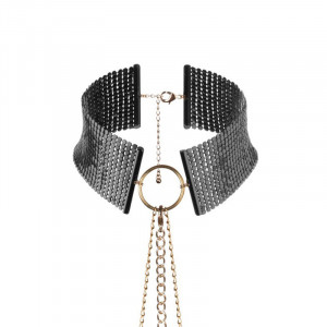 Metallic Mesh Collar Black