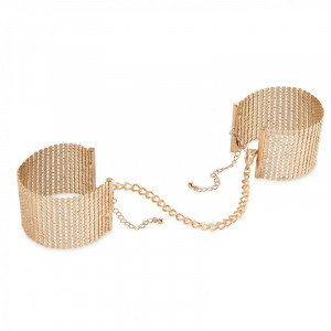 Gold Metallic Mesh Handcuffs