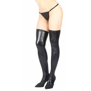 Vixson Wetlook Stockings - Black