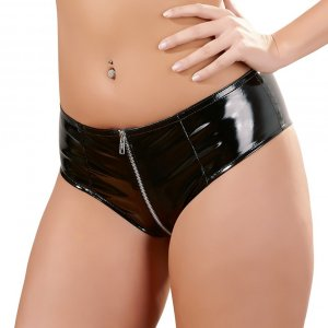 Vinyl Panties with Zip