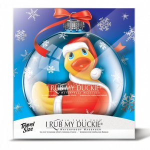 Bath Duck Christmas Ball Santa