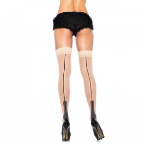 LA Sheer cuban heel tight high