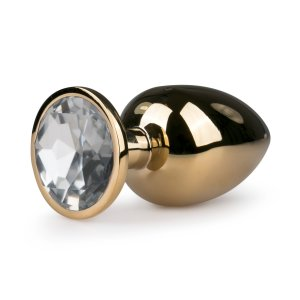 Metal Butt Plug No. 6 - Gold/Clear