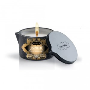Ignite Massage Oil Candle Vanilla Sandalwood