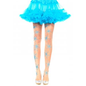 LA Let It Snow Glitter Pantyhose