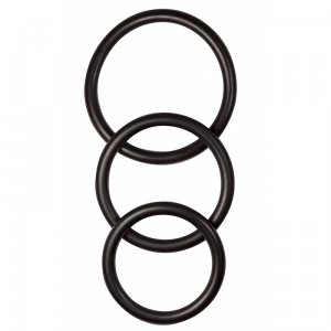 Rubber Cock Ring 3-pack - Black