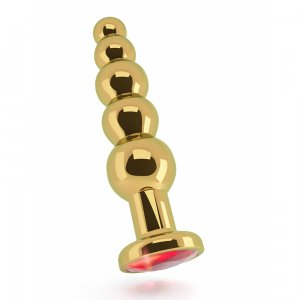 Gold Plug - 4,9 inch - Red Sapphire