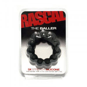 The Baller Silicone Cockring - Black