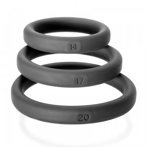 Xact Fit 3 Premium Silicone Rings Black