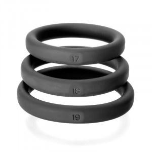 Xact Fit 3 Premium Silicone Rings - Black