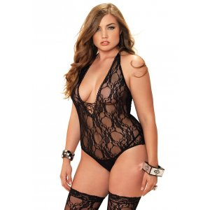 LA 2PC Floral Teddy And Stocking