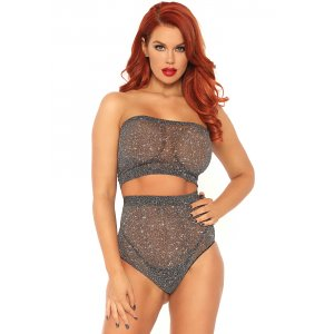 LA Lurex Spandex Top and Panty