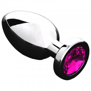 Jeweled Butt Plug PINK - Small