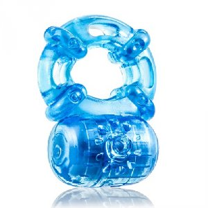 Stay Hard Reusable 5 Function Cockring - Blue