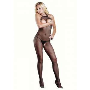 LA Fishnet Halter Bodystocking