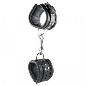Kiotos Leather Anklecuffs 6,5cm - Black