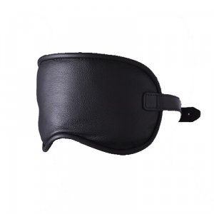 Kiotos Big Leather Eyemask Black