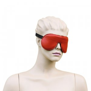 Kiotos Leather Eyemask Bordeaux Red
