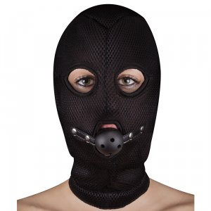 Extreme Mesh Balaclava With Open Ball Gag