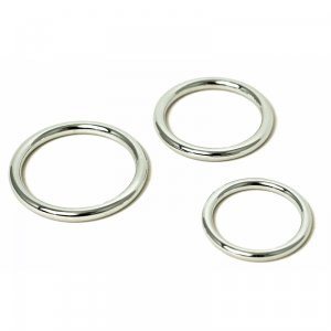Mr. Threesome Chromed Cock Ring 3 Set