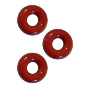 Chubby Rubber Cockring 3-Pack - Red