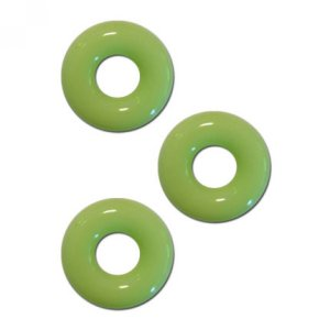 Chubby Rubber Cockring 3-Pack - Glow