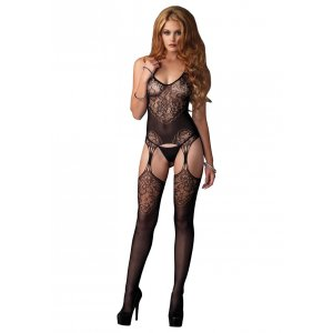 LA Lace Jacuard Net Bodystocking