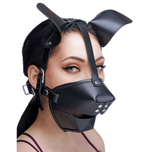 Puppy Play Mask With Ball Gag