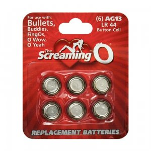 Screaming O Card of 6 x AG13 batteries (LR44)