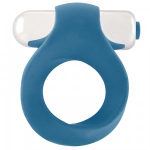 Infinity Single Vibrating Cockring - Blue