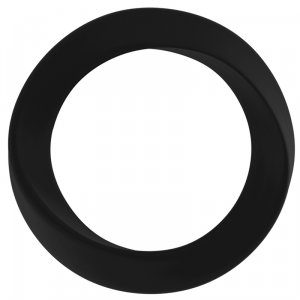 Infinity Thin Large Cockring - Black