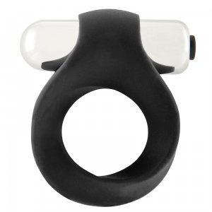 Infinity Single Vibrating Cockring - Black