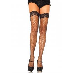 LA Spandex Fishnet Thigh Highs with Silicone
