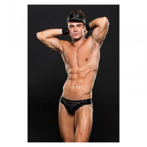 Biker Thong Cuffs And Hat