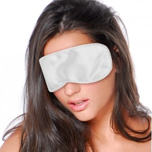 Satin Love Mask White