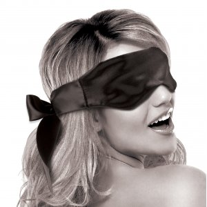 Limited Edition Satin Blindfold Black