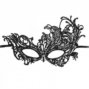 Royal Black Lace Mask
