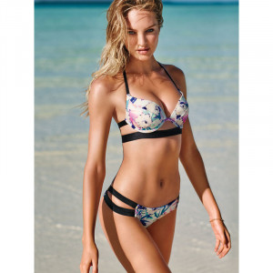 VS The Hottie Halter Bikini Top Tropical Floral
